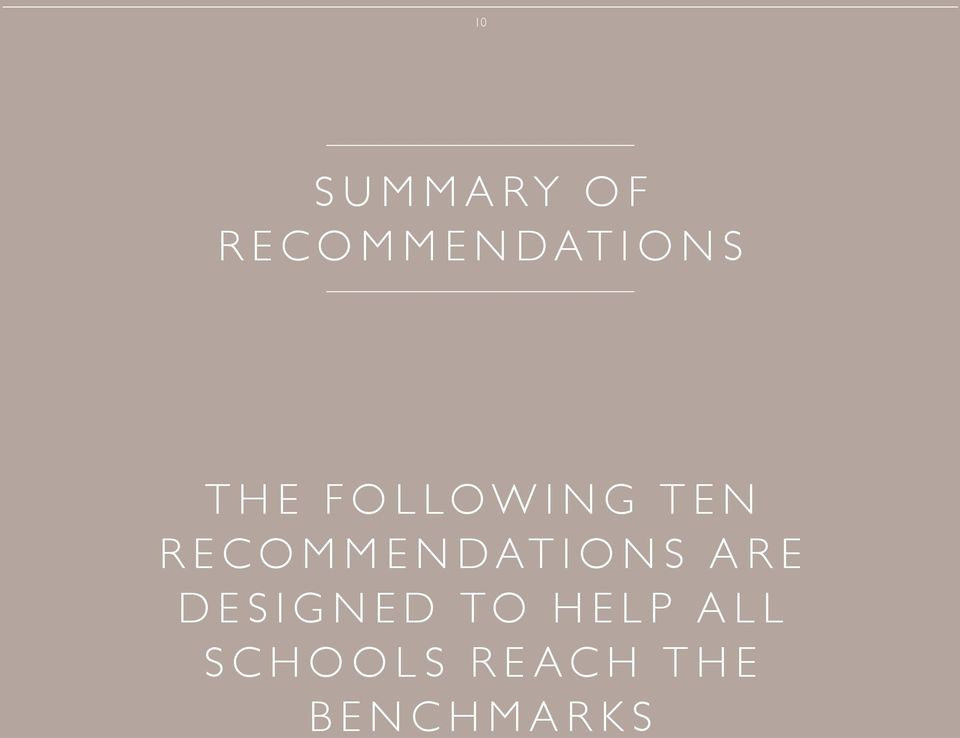 RECOMMENDATIONS ARE DESIGNED
