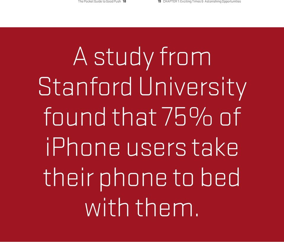 study from Stanford University found that 75%
