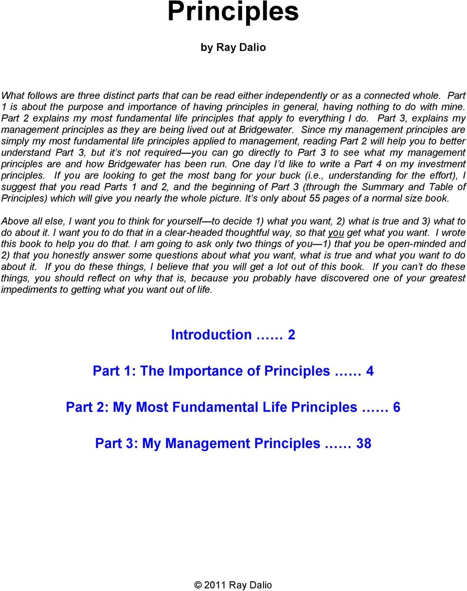 Part 3, explains my management principles as they are being lived out at Bridgewater.