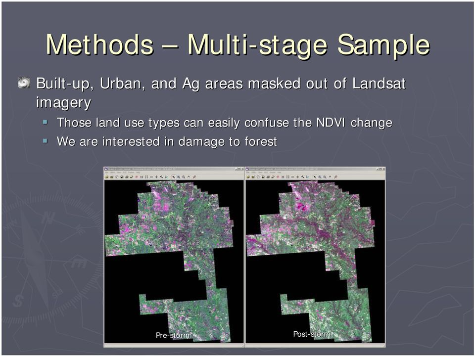 use types can easily confuse the NDVI change We are