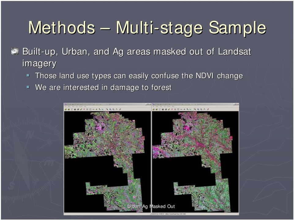 land use types can easily confuse the NDVI change