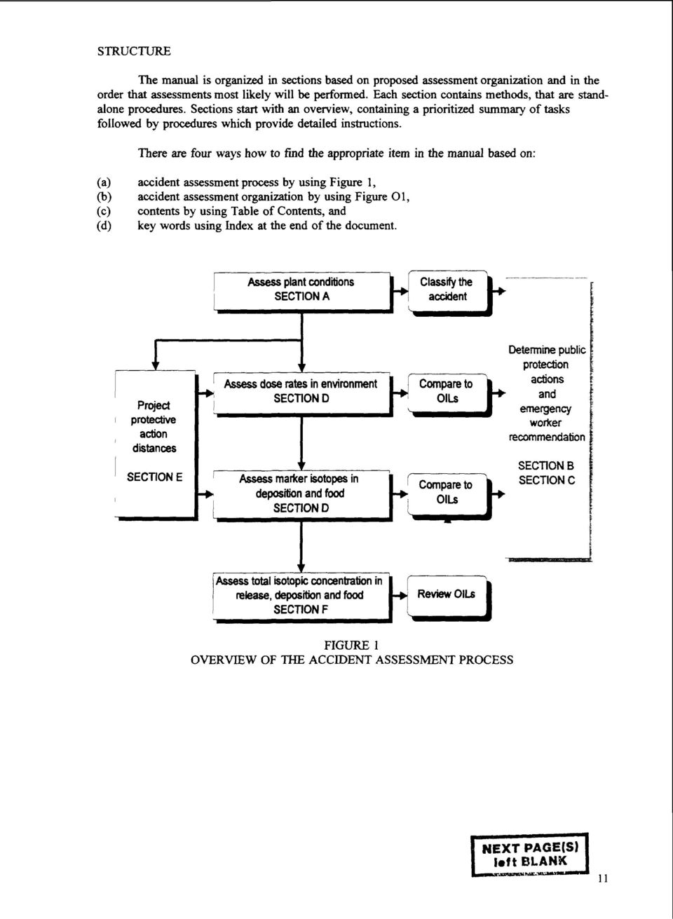 Generic assessment procedures for determining protective