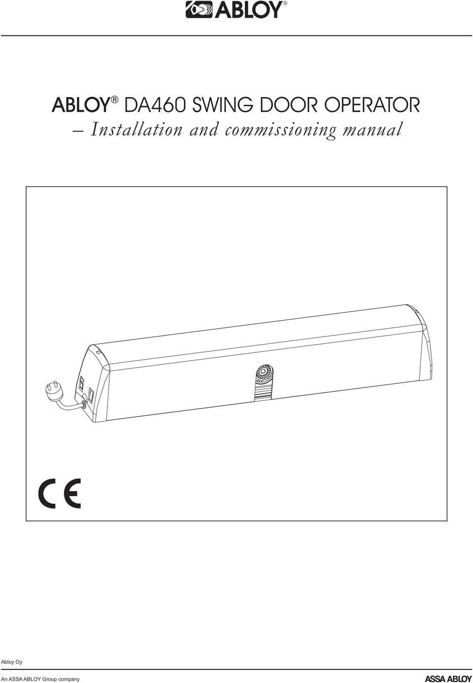 commissioning manual Abloy