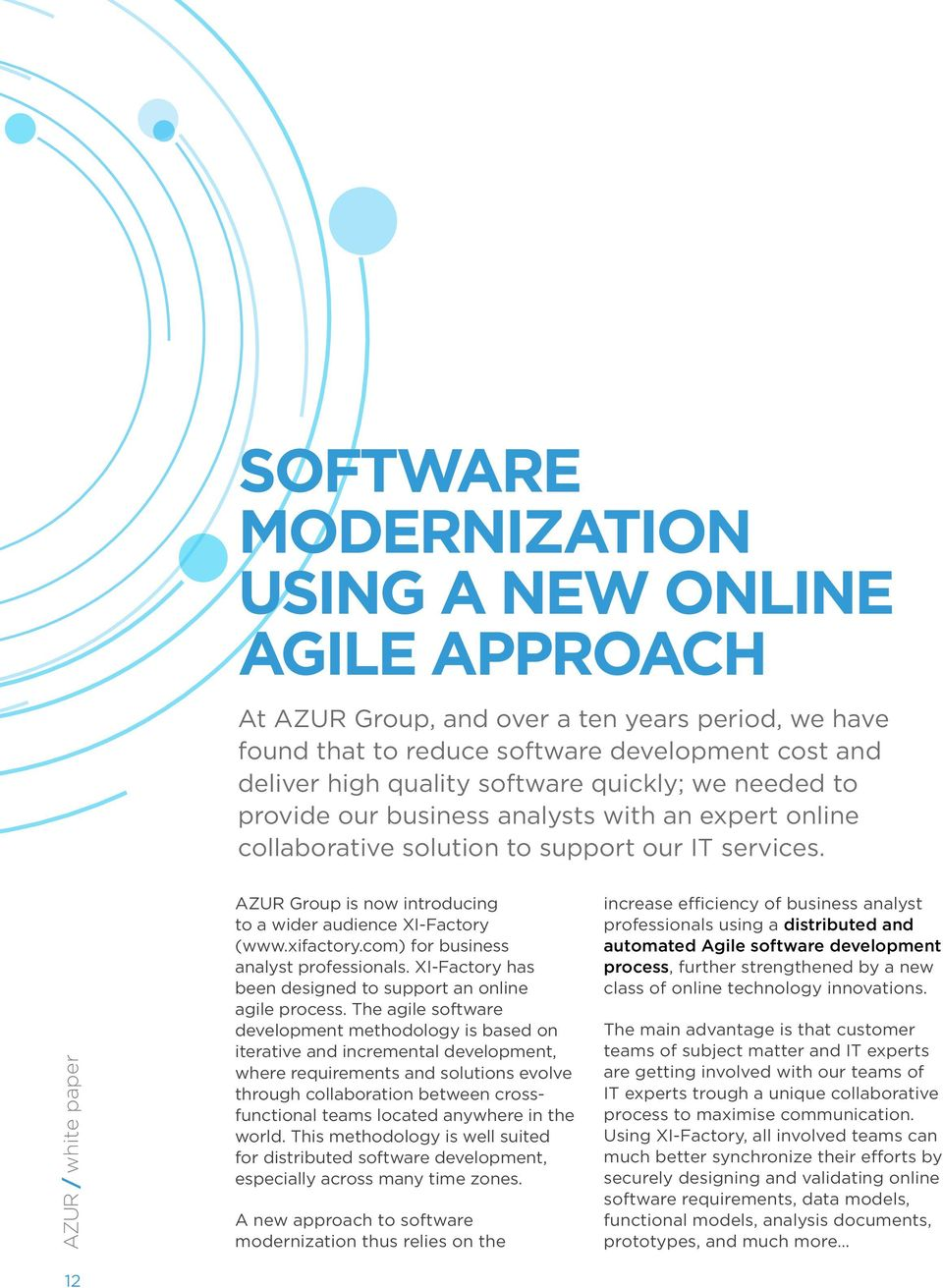 A Case for Online Agile Software Development Process  White
