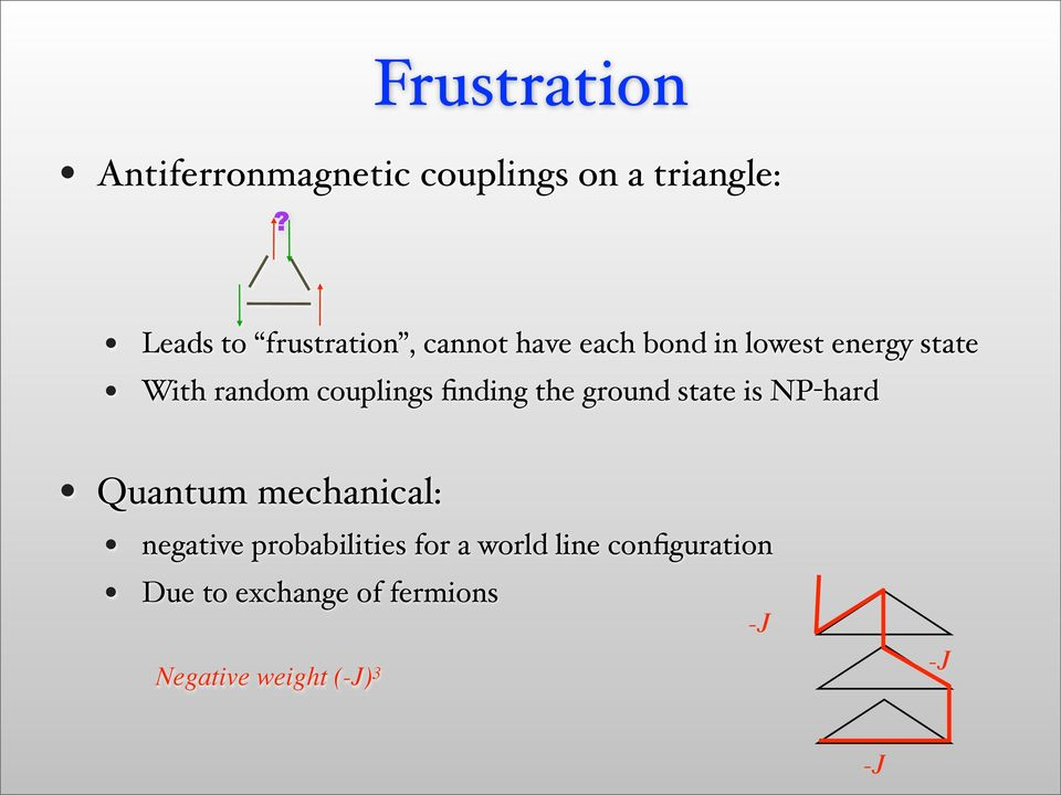With random couplings finding the ground state is NP-hard Quantum mechanical: