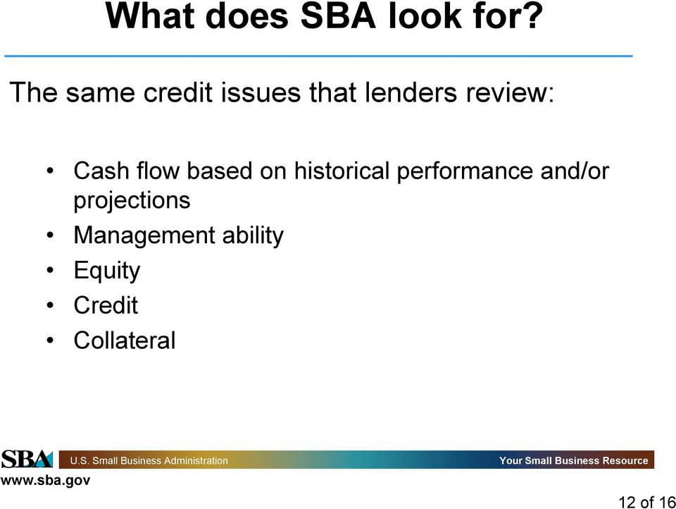 Cash flow based on historical performance