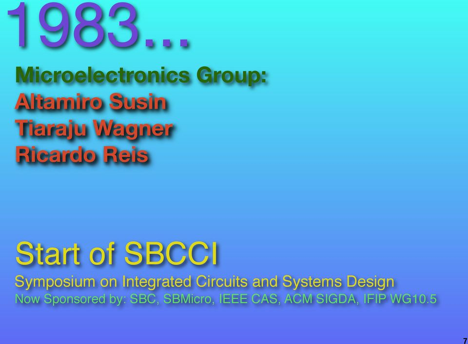 Symposium on Integrated Circuits and Systems Design