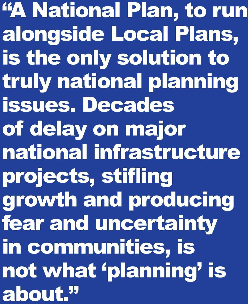 Decades of delay on major national infrastructure projects,