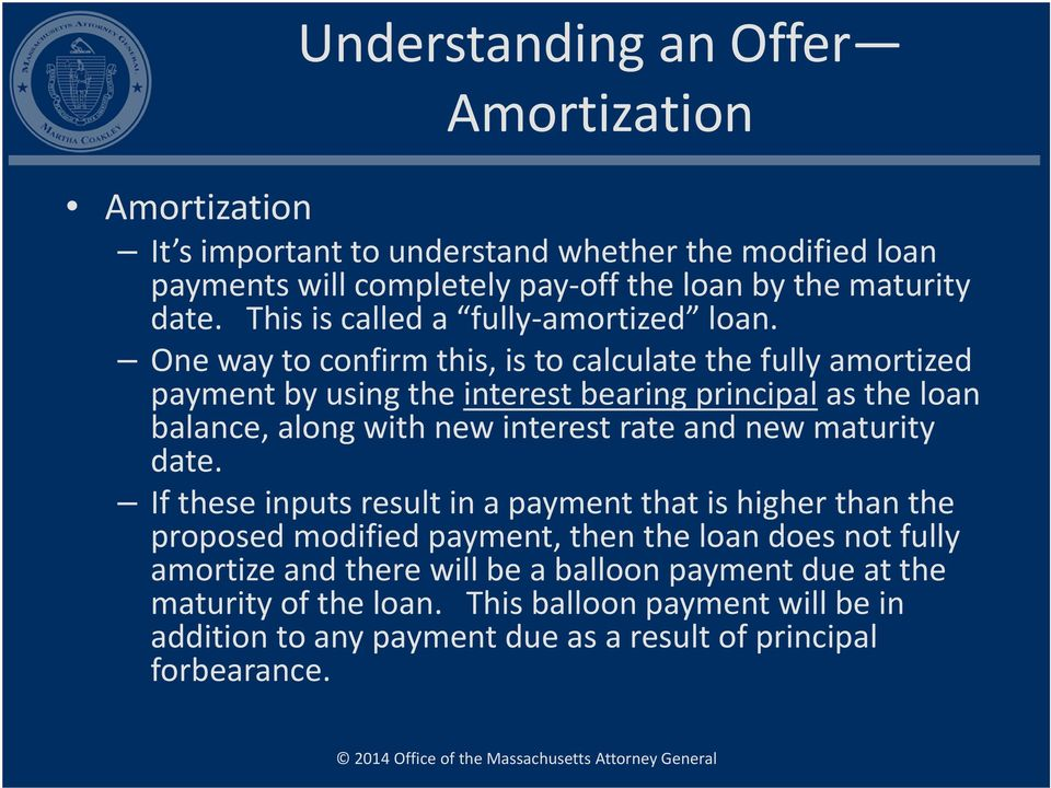 One way to confirm this, is to calculate the fully amortized payment by using the interest bearing principal as the loan balance, along with new interest rate and new