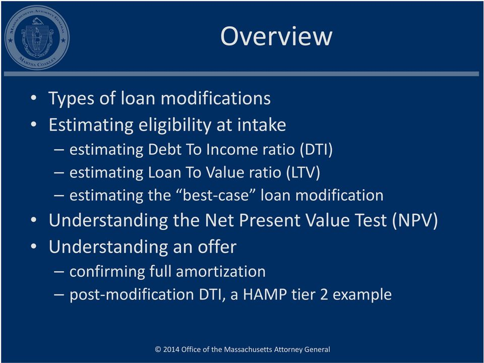 best case loan modification Understanding the Net Present Value Test (NPV)