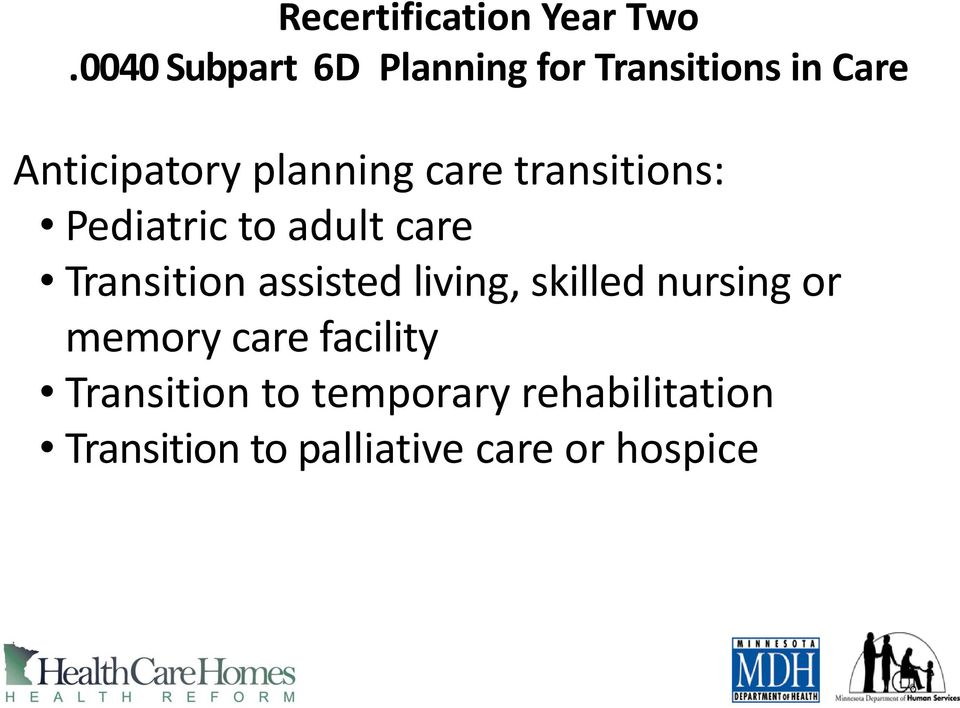 care transitions: Pediatric to adult care Transition assisted living,