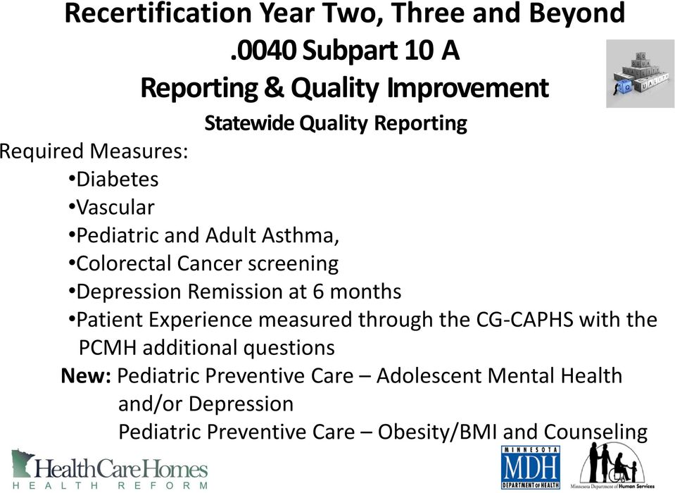 Pediatric and Adult Asthma, Colorectal Cancer screening Depression Remission at 6 months Patient Experience