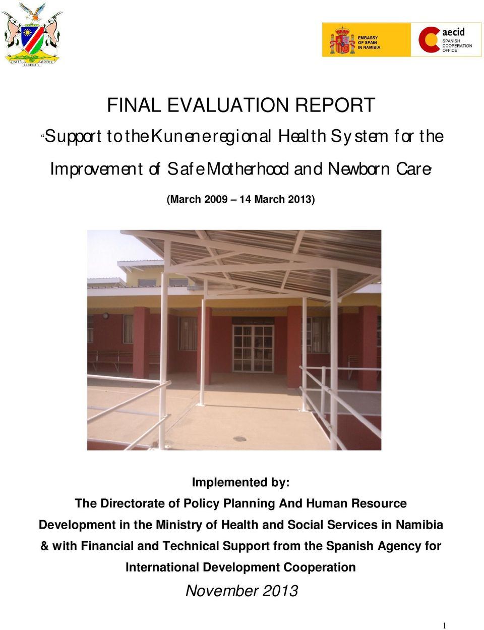Planning And Human Resource Development in the Ministry of Health and Social Services in Namibia &