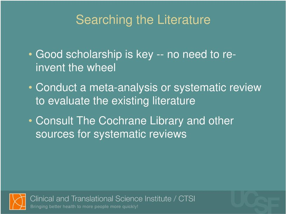 systematic review to evaluate the existing literature
