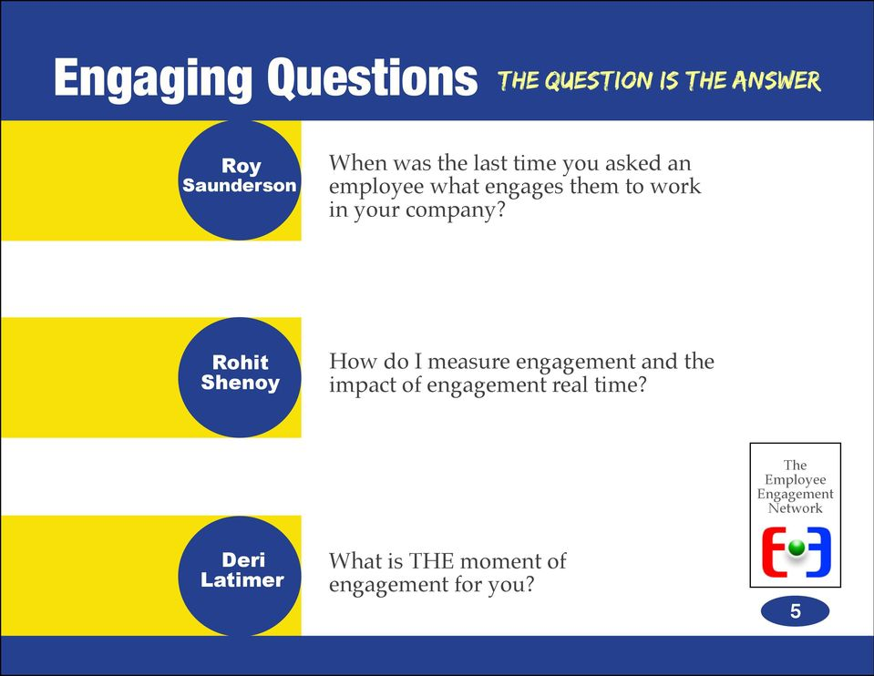 Rohit Shenoy How do I measure engagement and the impact of