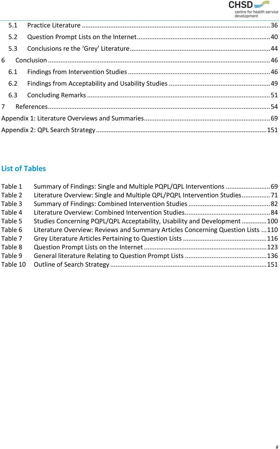 .. 151 List of Tables Table 1 Summary of Findings: Single and Multiple PQPL/QPL Interventions... 69 Table 2 Literature Overview: Single and Multiple QPL/PQPL Intervention Studies.