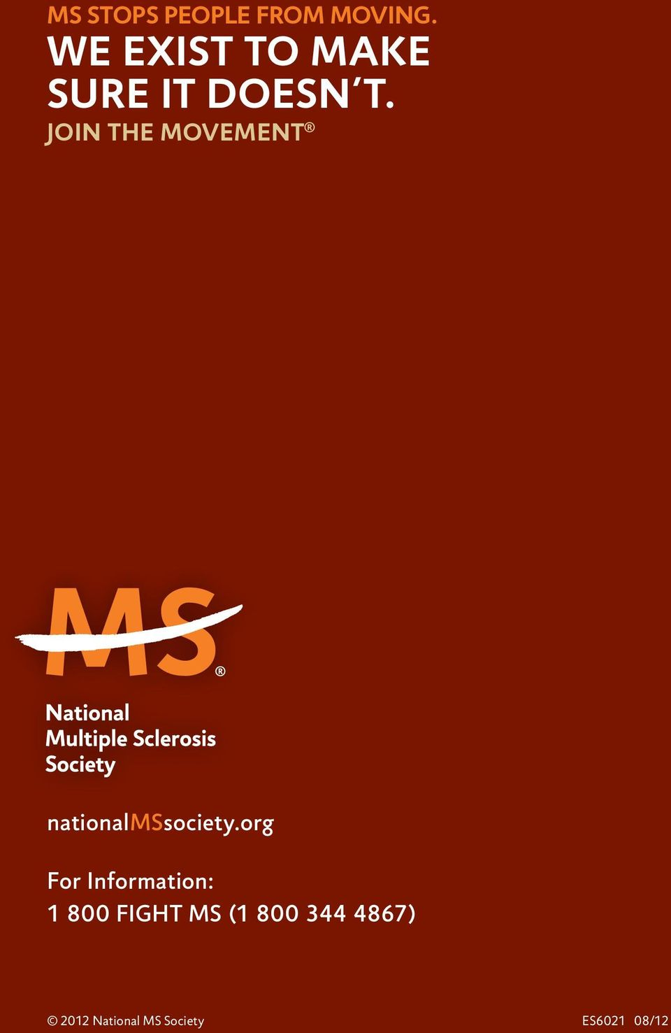 Join the Movement nationalmssociety.