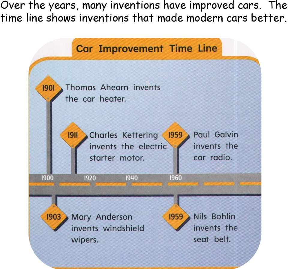 cars. The time line shows
