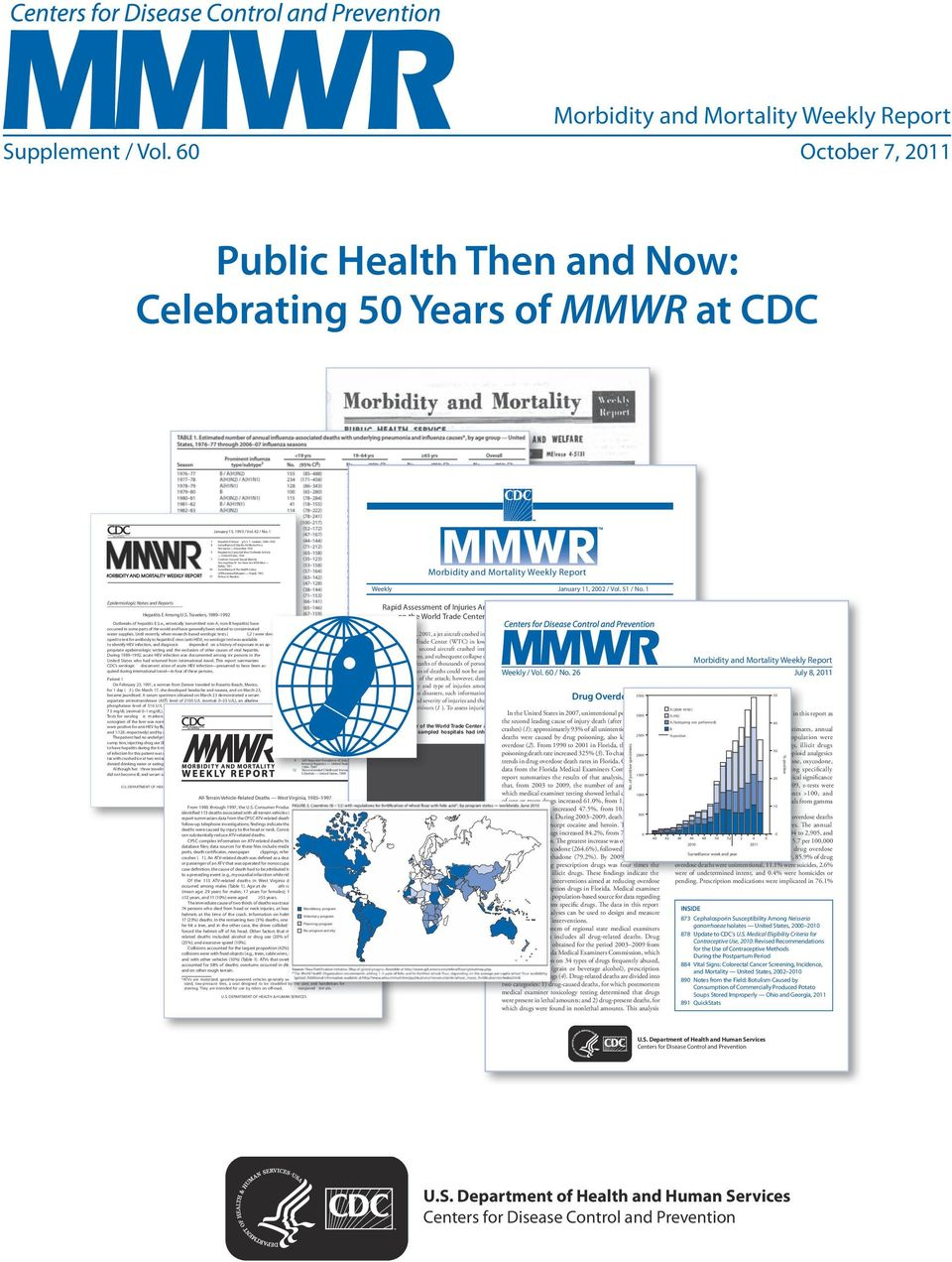 pplement / Vol. 60 October 7, 2011 Public Health Then and Now: Celebrating 50 Years of MMWR at CDC January 15, 1993 / Vol. 42 / No. 1 1 Hepatitis E Amon g U.S.