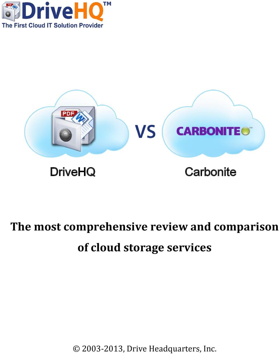 comparison of cloud storage