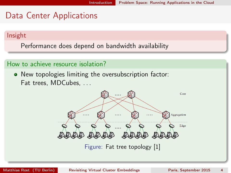 New topologies limiting the oversubscription factor: Fat trees, MDCubes,.