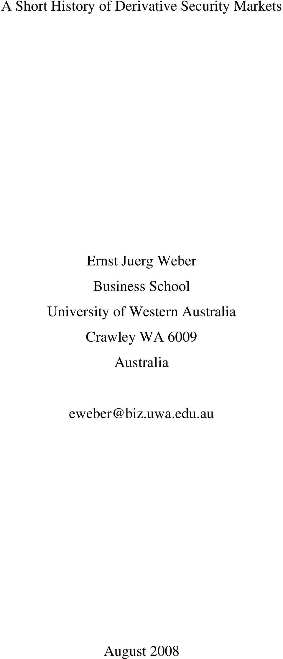 University of Western Australia Crawley WA