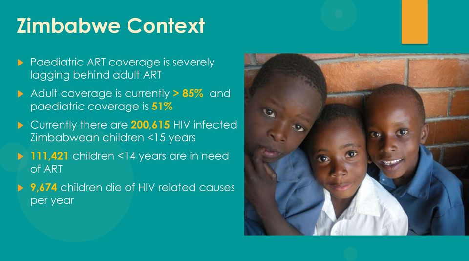 there are 200,615 HIV infected Zimbabwean children <15 years 111,421 children