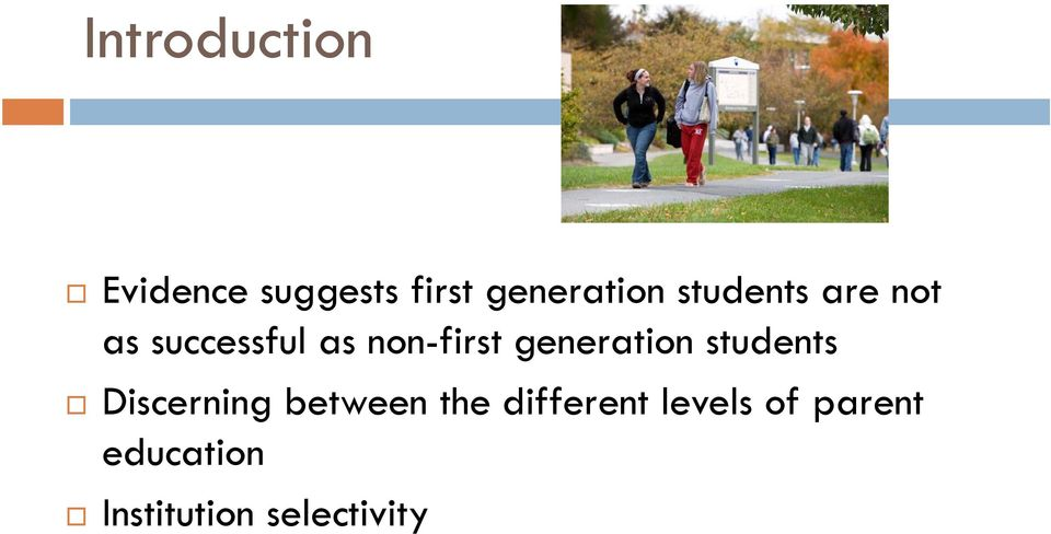 generation students Discerning between the