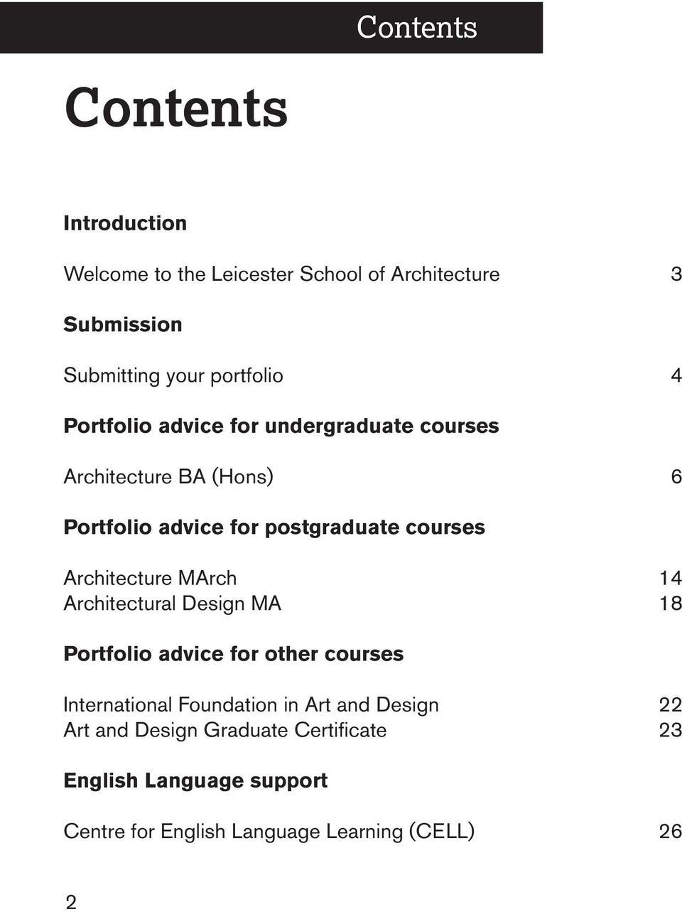 Architecture MArch Architectural Design MA 14 18 Portfolio advice for other courses International Foundation in Art