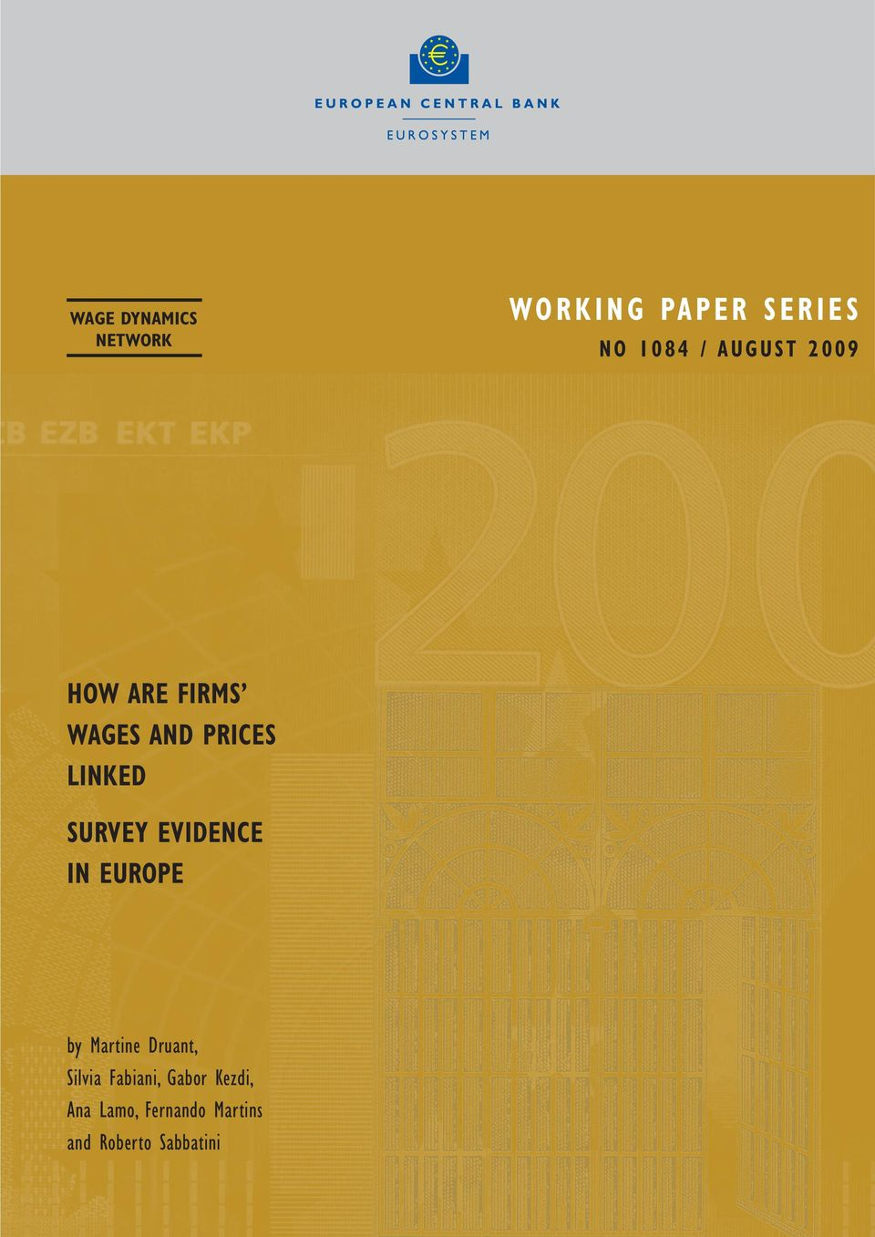 evidence in europe by Martine Druant, Silvia Fabiani,