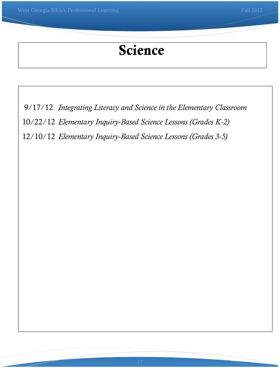 Inquiry-Based Science Lessons (Grades K-2) 12/10/12