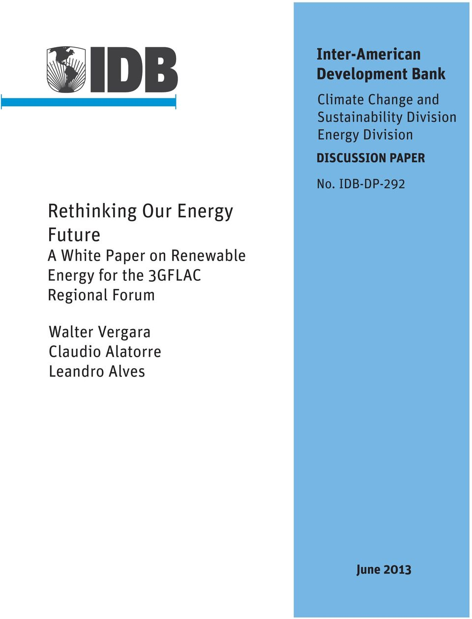 Future A White Paper on Renewable Energy for the 3GFLAC Regional