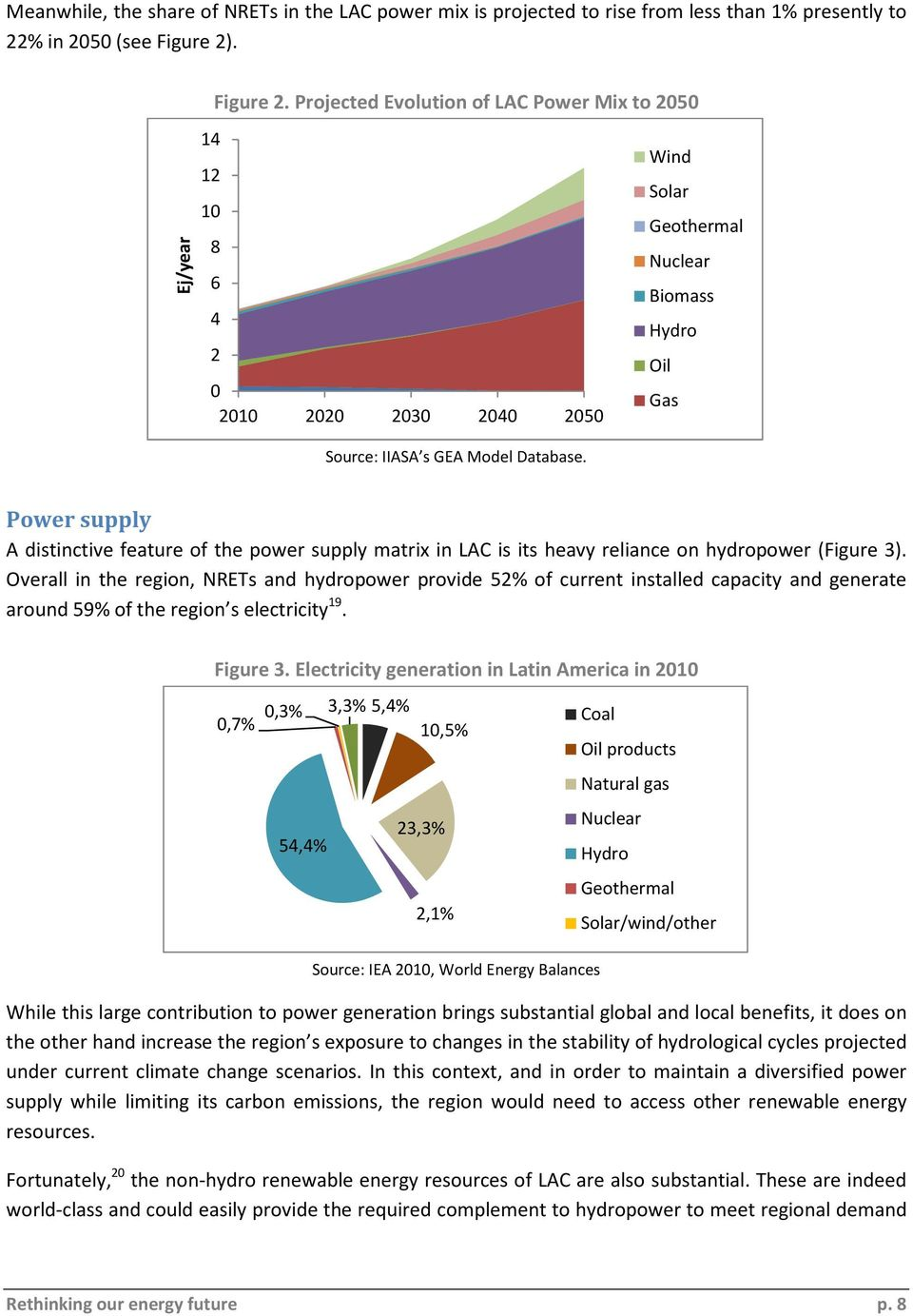 Power supply A distinctive feature of the power supply matrix in LAC is its heavy reliance on hydropower (Figure 3).