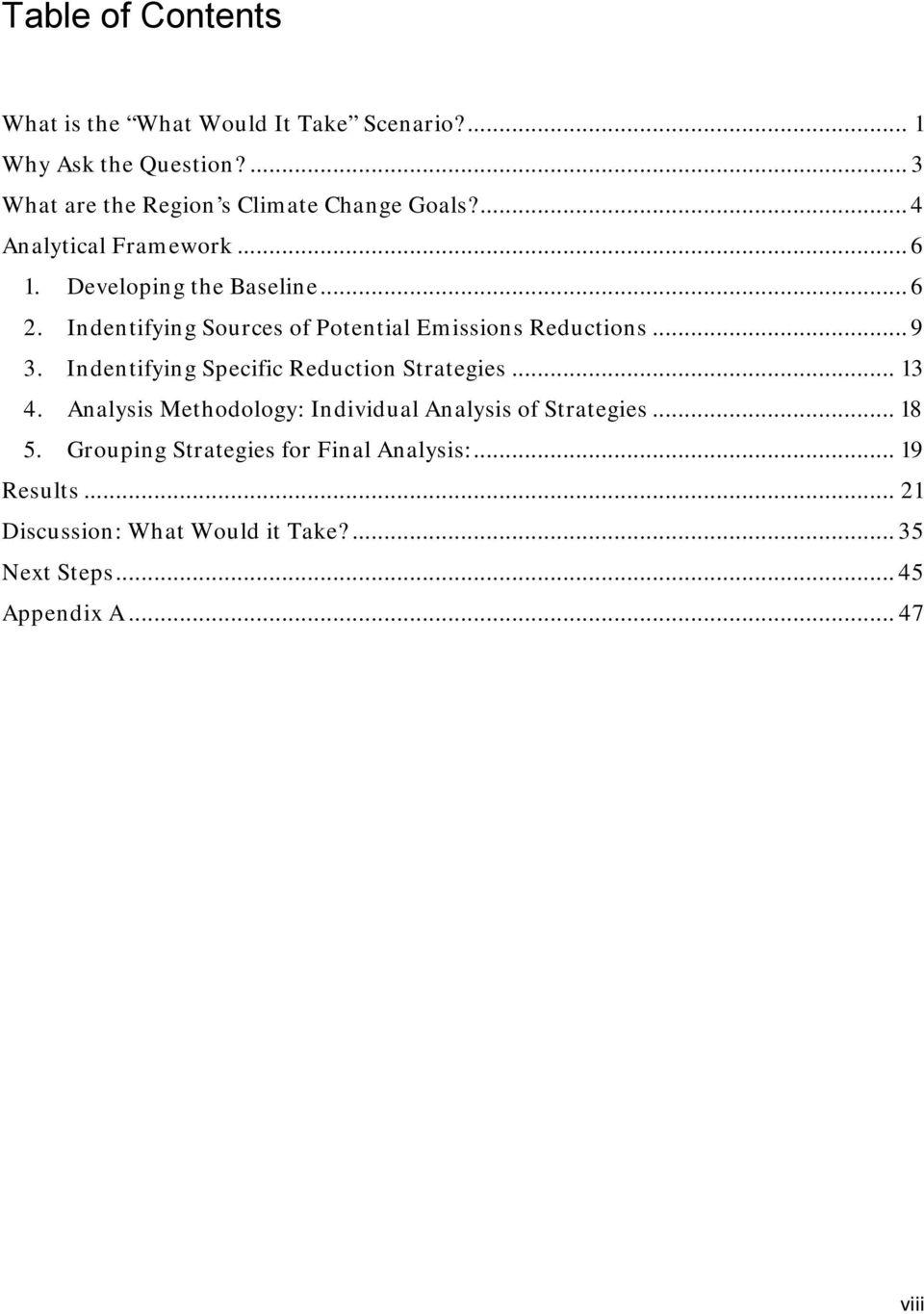 Indentifying Sources of Potential Emissions Reductions... 9 3. Indentifying Specific Reduction Strategies... 13 4.