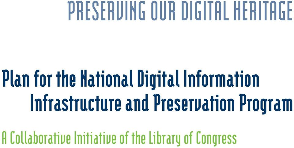 Infrastructure and Preservation Program A