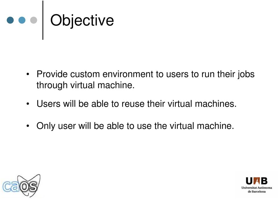 Users will be able to reuse their virtual