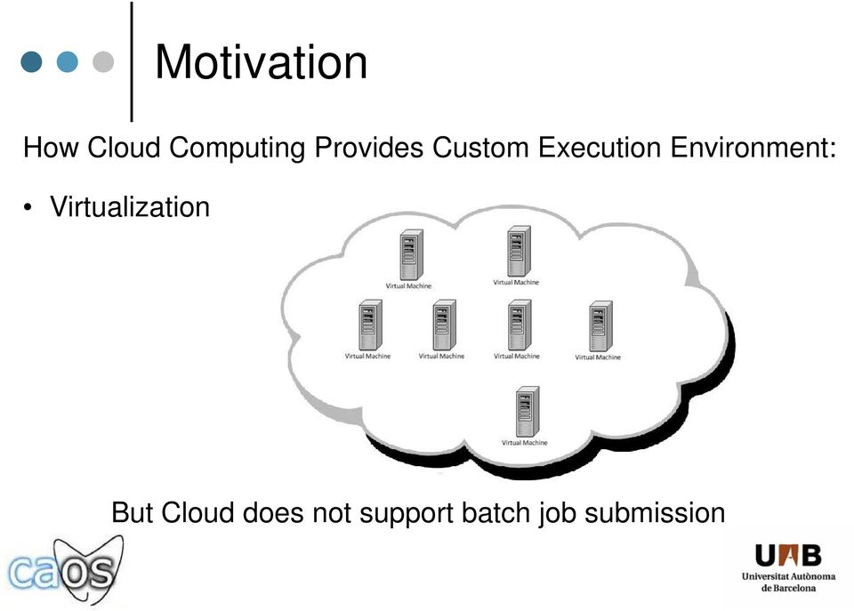 Environment: Virtualization But