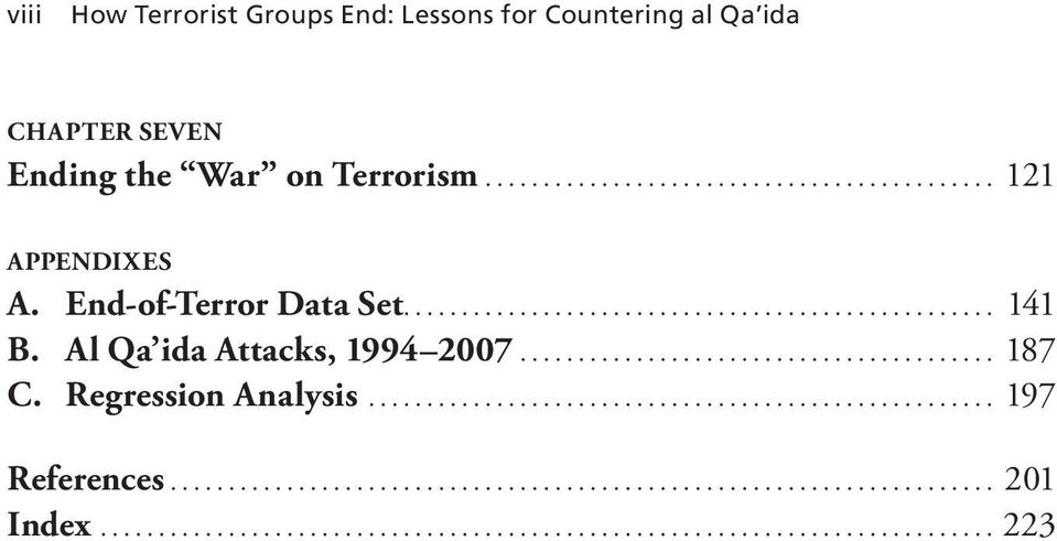 End-of-Terror Data Set... 141 B. Al Qa ida Attacks, 1994 2007.