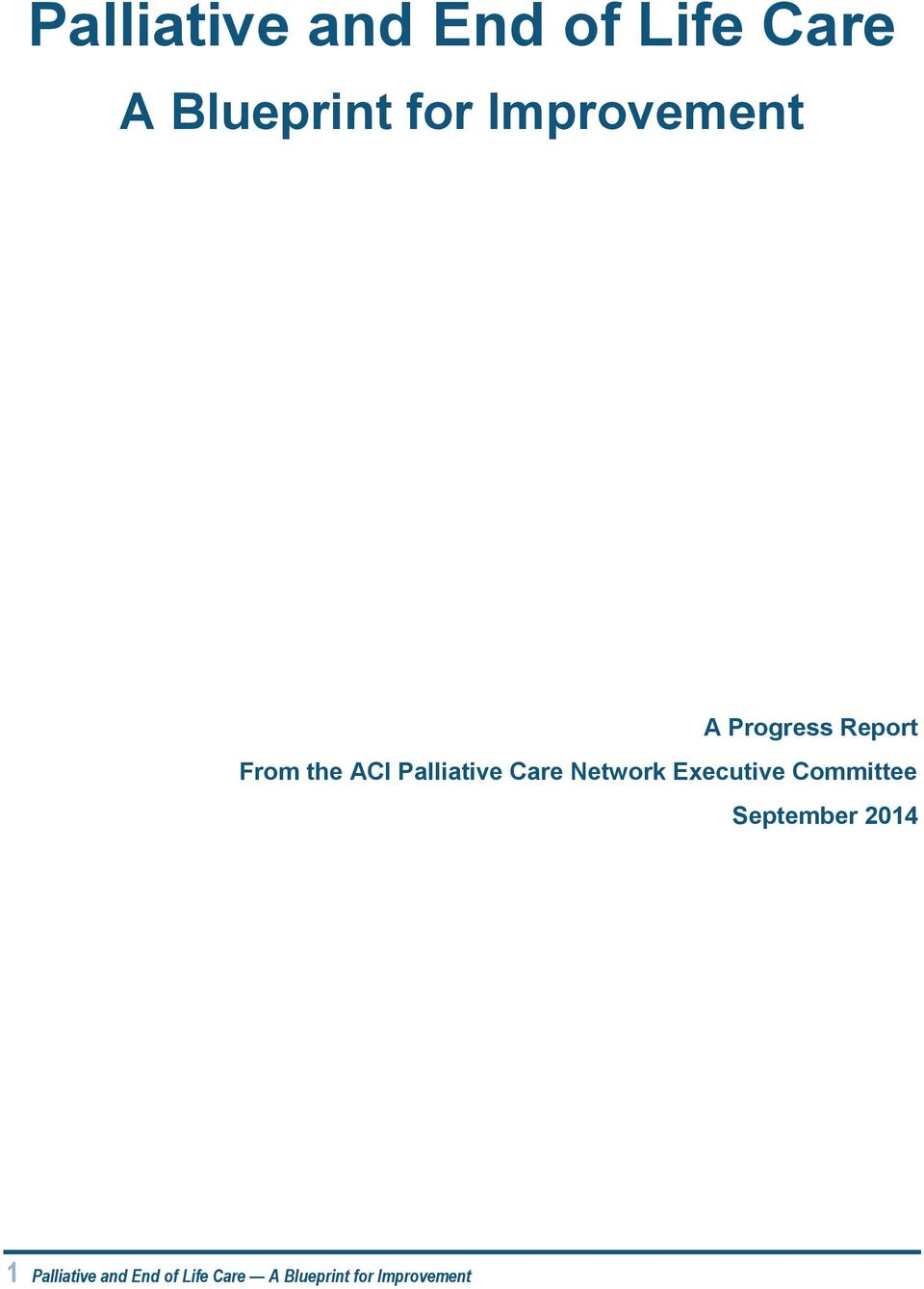 Palliative Care Network Executive Committee
