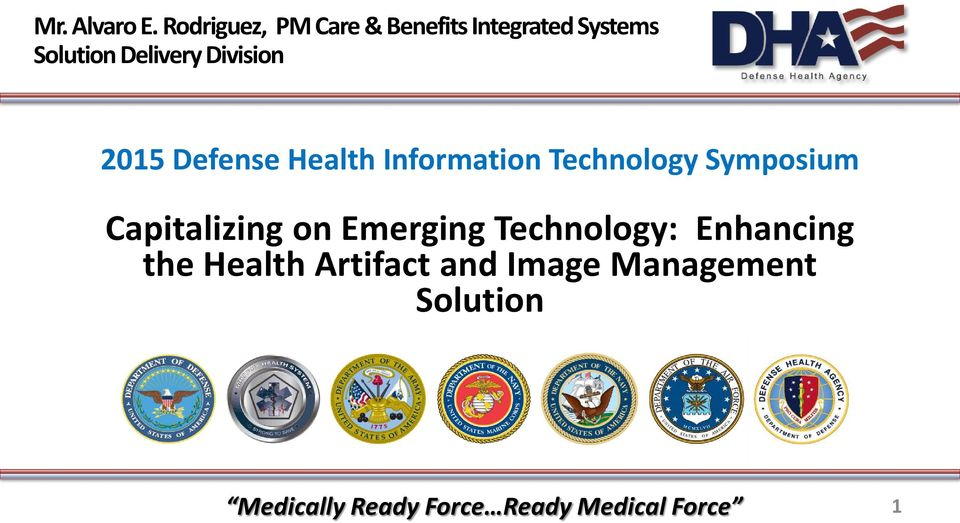 Delivery Division 2015 Defense Health Information Technology
