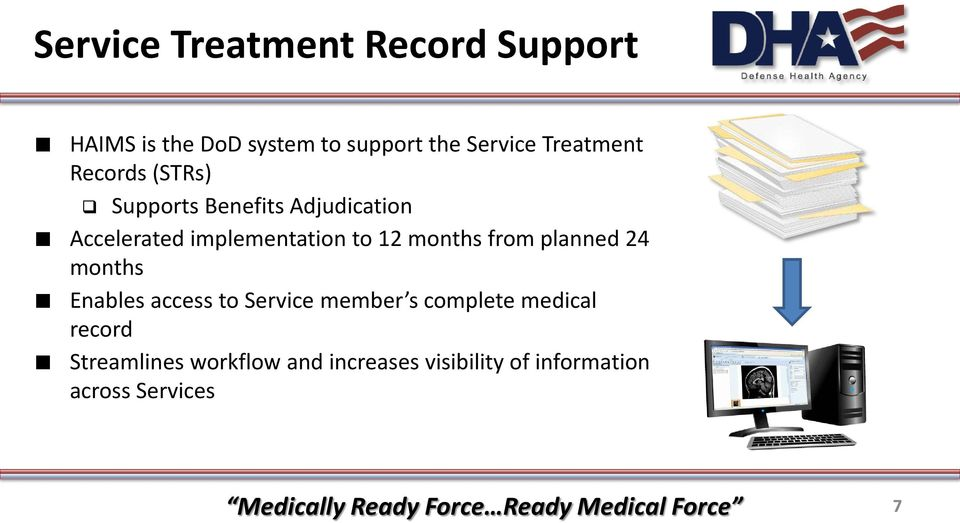 to 12 months from planned 24 months Enables access to Service member s complete