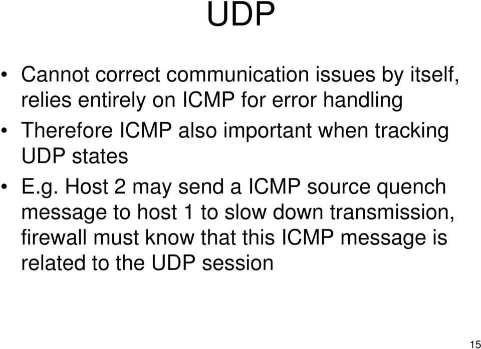 Therefore ICMP also important when tracking