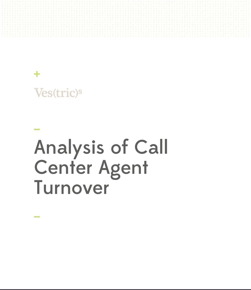 Turnover 1 ANALYSIS
