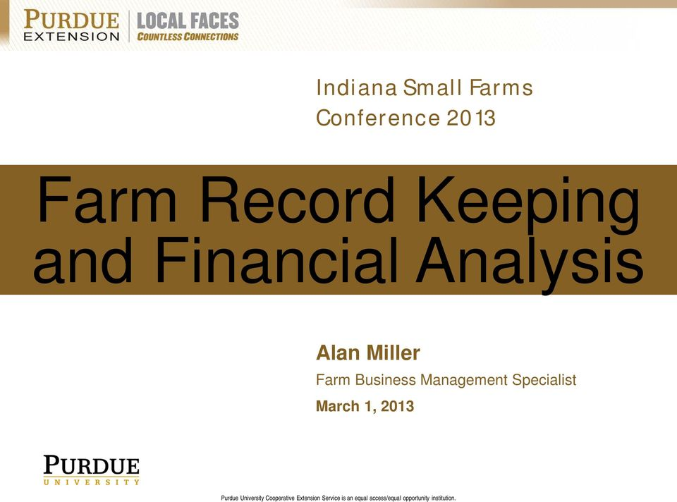 Financial Analysis Alan Miller
