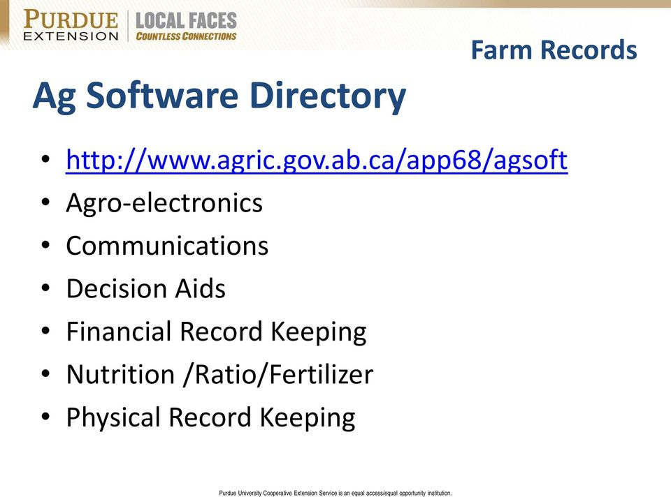 ca/app68/agsoft Agro-electronics Communications