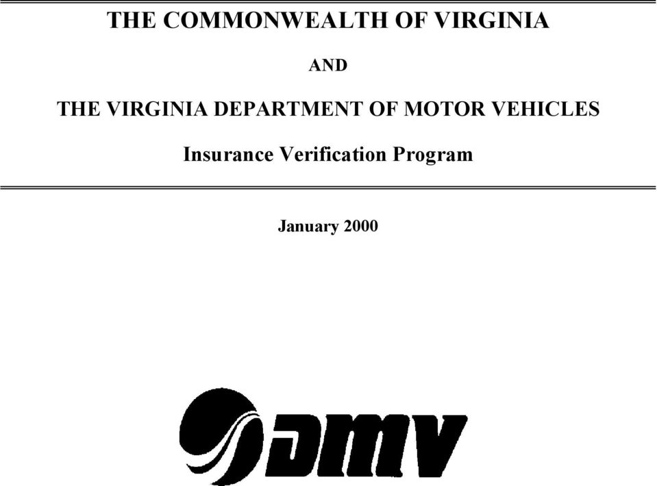 OF MOTOR VEHICLES Insurance