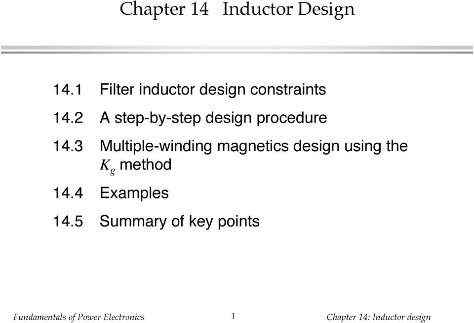 2 A step-by-step design procedure 14.