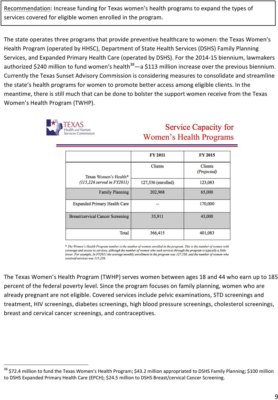 "Services,""and""Expanded""Primary""Health""Care""(operated""by""DSHS)."