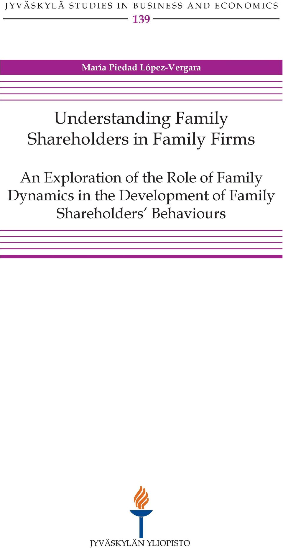 in Family Firms An Exploration of the Role of Family