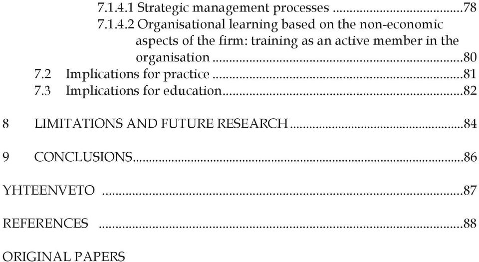 .. 78 2 Organisational learning based on the non-economic aspects of the firm: training as